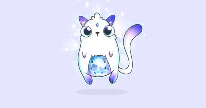 크립토키티 최초로 탄생한 제네시스 고양이는 약 1억 2000만 원에 거래됐습니다. - 크립토키티 제공